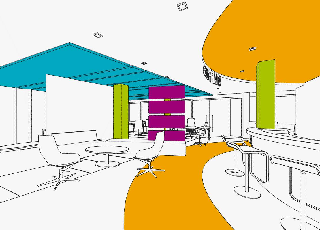 panneau acoustique suspendu effispace. Black Bedroom Furniture Sets. Home Design Ideas